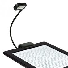 Portable Flexible Folding LED Clip On Reading Book Light AAA Lamp For Reader Kindle Book For Amazon Kindle/PDAs/Pad/eBook Reader(China)