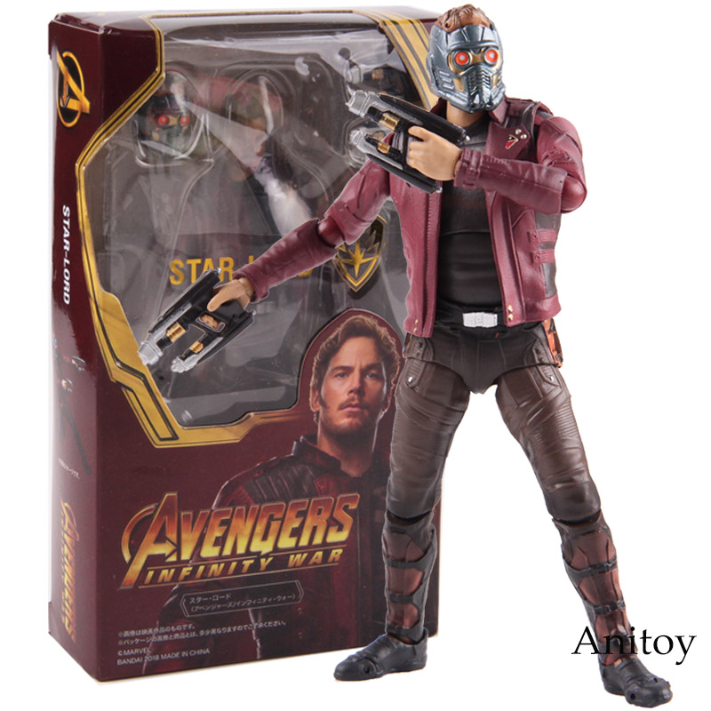Marvel Legends Avengers Infinity War Star Lord Peter Quill Hot Toys PVC Action Figure Collectible Model Toy 14cmMarvel Legends Avengers Infinity War Star Lord Peter Quill Hot Toys PVC Action Figure Collectible Model Toy 14cm