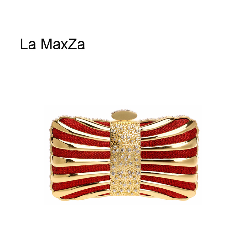 La MaxZa Womens Evening Clutch Bag Wedding Purse Bridal Prom Handbag Party Bag Sparkling Handbag Evening Handbags/ Clutches