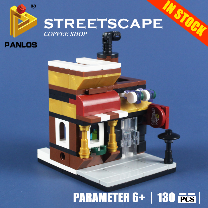 STREETSCAPE COFFEE SHOP Model Building Toys hobbies Compatible With lego city Creative Blocks Educational DIY Bricks for kids