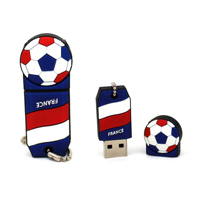 New soccer team USB Flash Drive super Gift Football fans Pen Drive U Disk memory stick pendrive 128MB 4GB 8GB 16GB 32GB