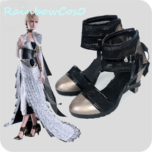 RainbowCos0 Free Shipping Cosplay Shoes Final Fantasy XV FFXV FF15 Lunafreya Boots Props Game Anime Halloween