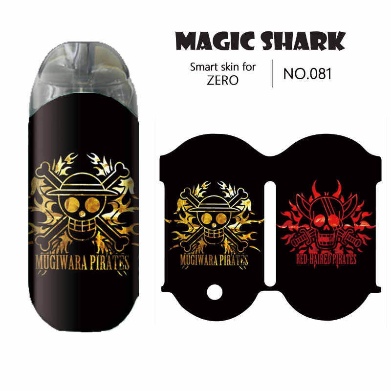 Волшебная Акула Dragon Ball One Peice Skull ПВХ наклейка чехол для Zero E сигарета оберточная пленка для Vaporesso Renova Zero