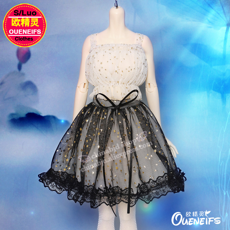 OUENEIFS free shipping ,Braces skirt,Lace dress,strapless,1/4 bjd/sd doll clothes,no doll or wig YF4-136 oueneifs free shipping lace yarn dress and pink girl doll dress 1 6 bjd sd dolls no dolls or wigs yf6 148
