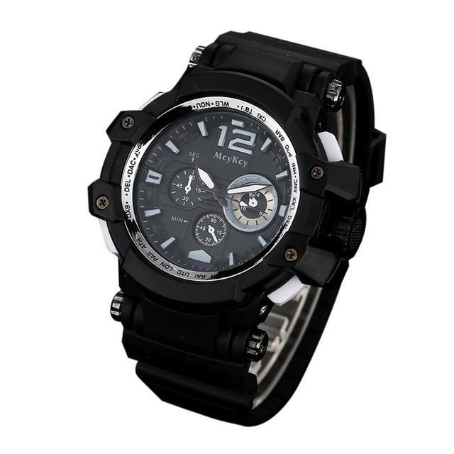 McyKcy Men's Watches 2018 New Design Creative Watch Silica Gel Brand Watchband Quartz Watches relogios masculino reloj hombre