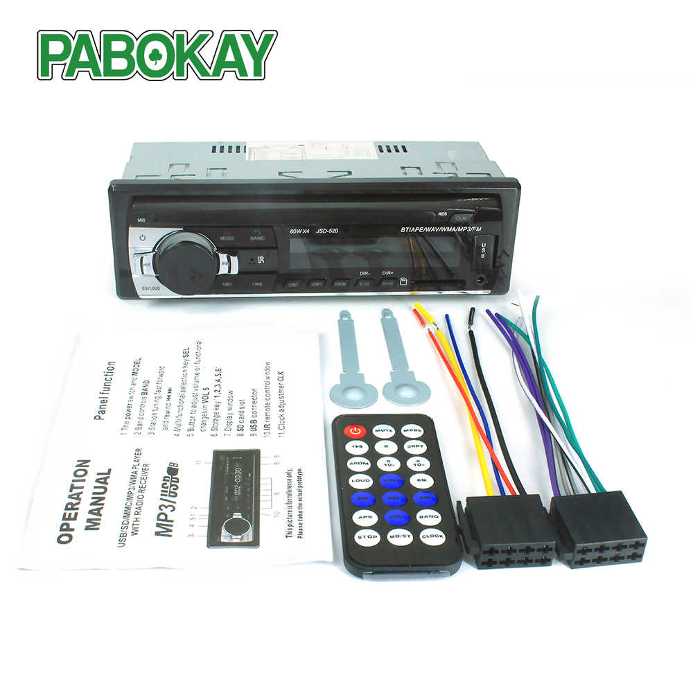 Bluetooth Autoradio 12V Auto Stereo Radio FM Aux-IN Eingang Empfänger SD USB JSD-520 In-dash 1 din MP3 Multimedia Player