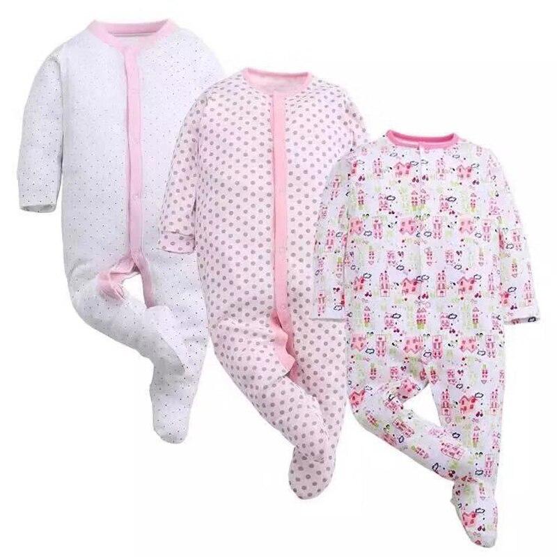 Baby Jumpsuits Newborn Babies Boys Girls Romper 3 6 9 12 Months Pajamas Overalls Infant Jumpsuits