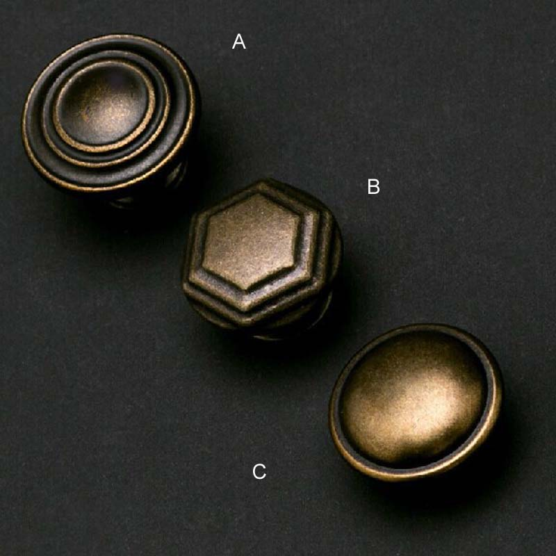 Vintage Drawer Knobs Bronze Kitchen cabinet pull antique brass cupboard dresser furniture door handles pulls Knob