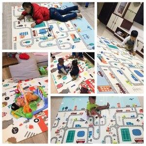 Image 5 - תינוקות הניצוץ הפיך תינוק לשחק מחצלת קריקטורה רך מחצלת גדול גודל 180*200*1CM מעובה ילדים שטיח משחק Pad Playmat לילדים