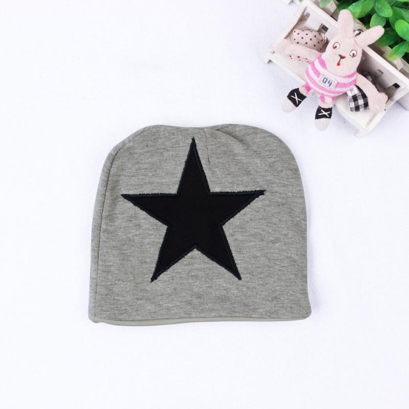Baby Boys Baby Girls clothing set Newborn baby black grey striated T-shirt+ bib pants + hat stars pattern costumes suits (3)