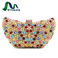 Women Free Shipping Crystal Bag Lady Wedding Clutch Purse With Colourful Diamonds Sisters Party Handbag