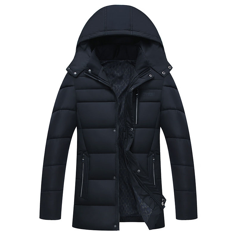 Thicken Winter Parka Men New Brand Hooded Long Sleeve Quilted Jackets Male Winter Warm Cotton Wadded Coat Plus Size L-3XL 4XL warm thicken baby rompers long sleeve organic cotton autumn