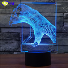 FUMAT 3D Lamp Dragon Claw Night Light Bedside Lights Table Lampara With Changeable Cool Claw Night Light Xmas Gift lamparas