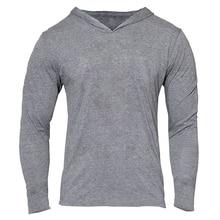 Hoodies clothing manga comprida de fitness muscular musculação academias roupas apertadas homens algodão fino pulôver moletons treino em casa(China (Mainland))