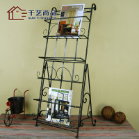 Thousands of goods unigarden European iron storage rack shelf Book landing shelf magazine rack newspaper shelf selling special o