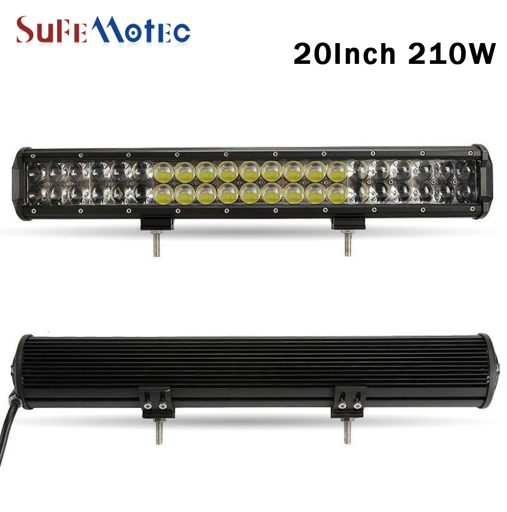 SufeMotec 20 Inch 210W 4D LED Light Bar Work Lamp For Offroad 4x4 Wagon Suv Trucks Atv Car 4WD Combo Beam Driving Lights 12V 24V 2016 rushed promotion 4d osram 44 inch 480w led light bar offroad combo beam work lamp 12v for trucks suv atv 4x4 external