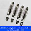 High Quality Stainless Steel Car Door Handle Cover Sticker For Volkswagen VW Touran 2004-2014 Silver 8PCS Car Styling Accessorie