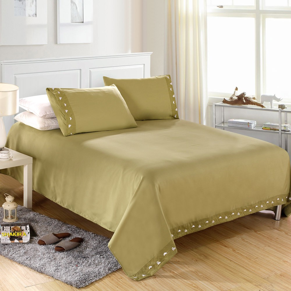 2015 new free shipping solid bedding 4pcs bedding set
