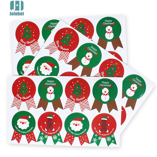 80pcs paper sticker new christmas label gift package sealing