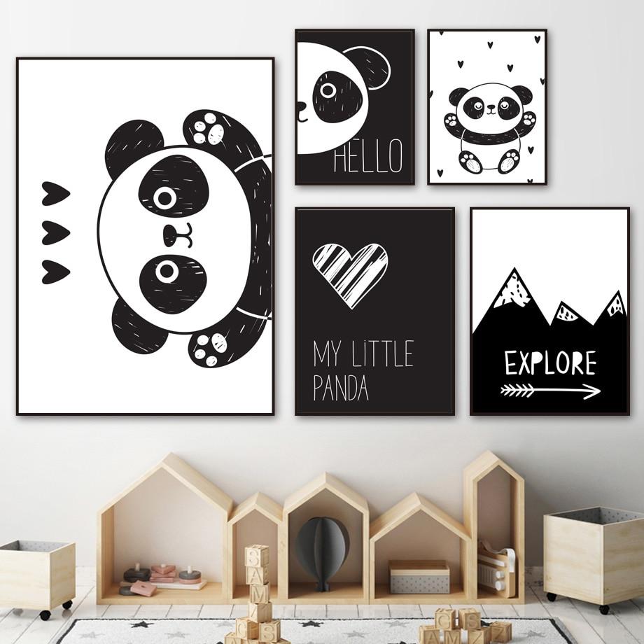 Panda Polar Bear Poster Print Decorative Paint Picture Canvas Decor Art Bedroom