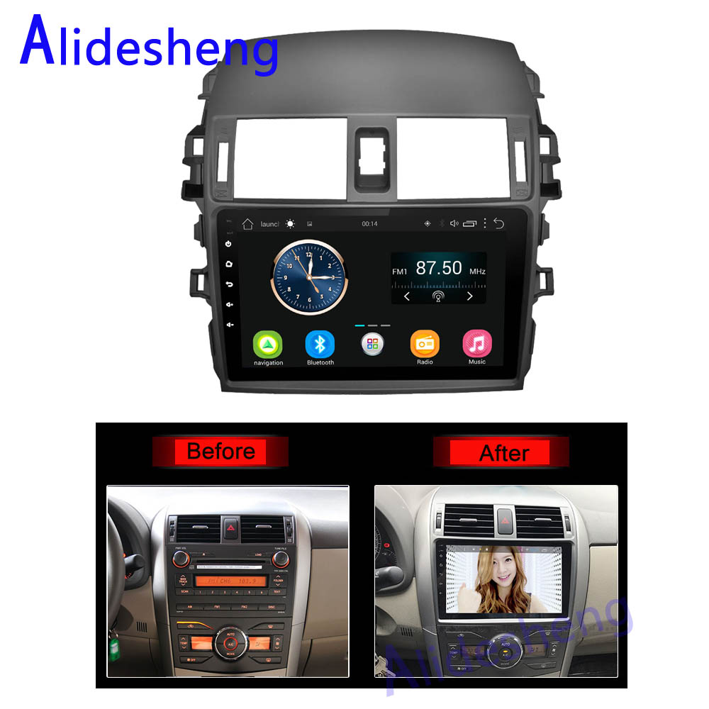 2din 2 5D Android 8 0 Car DVD Multimedia player for Toyota Corolla 2007  2008 2009 2010 2011 2012 2013 car radio GPS navigation