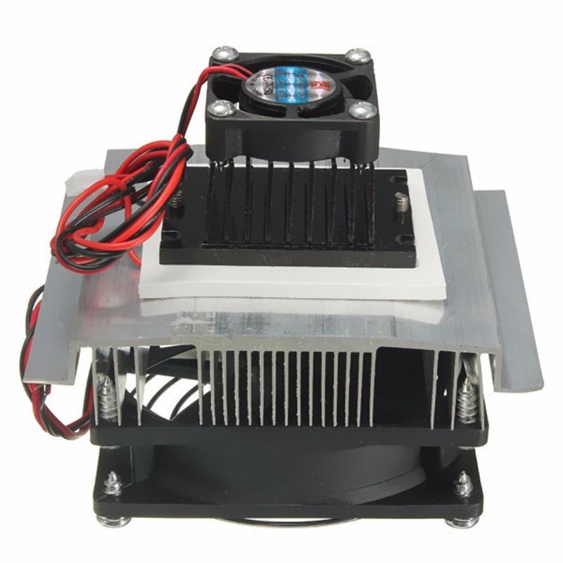 12V Thermoelectric Peltier Refrigeration Cooling Cooler Fan Radiator Peltier TEC1-12706 System Heatsink Kit for Computer 5 pcs qdzh35g r134a 12v cooling compressor for marine refrigeration unit
