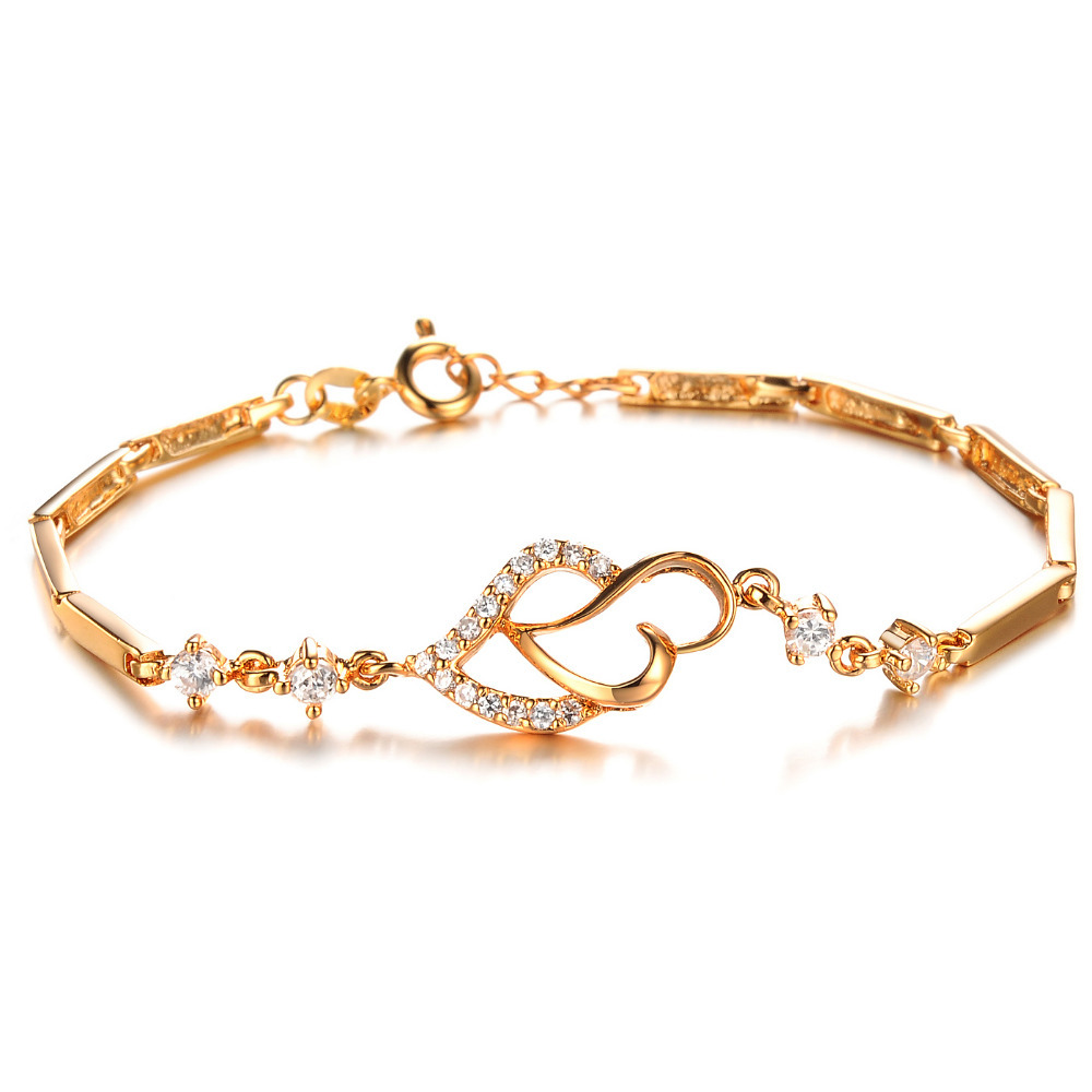 New fashion Simple style Gold Plated charm bracelets AAA Quality ...