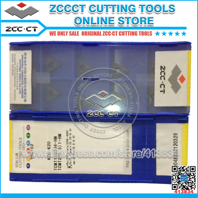 ZCCCT cutting tool cnc turning inserts TCMT110204 for cast iron 1 pack free shipping zccct cutting tools cnc turning tool inserts and tool holder 1 pack