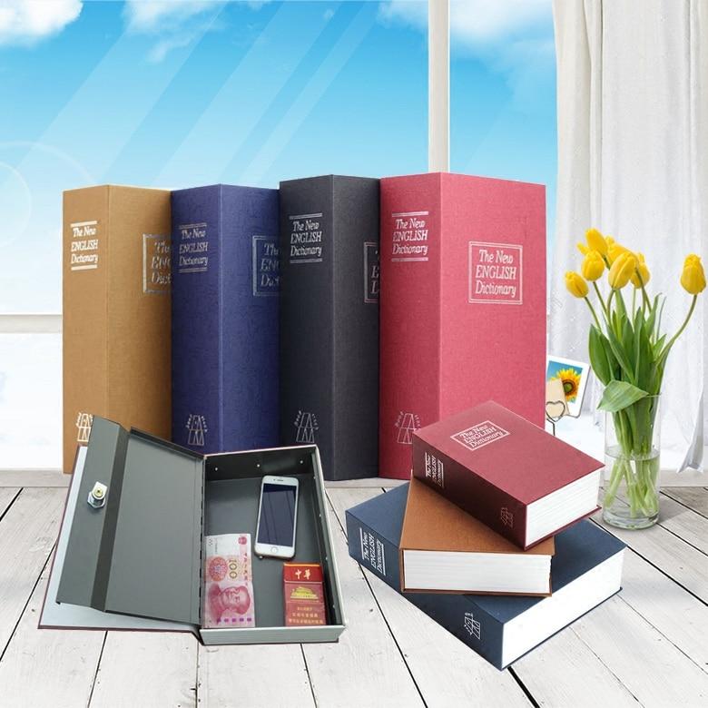 18*11.5*5.5cm Book Safe Box Secret Stash Security Secret Key Hidden Lock Money Compartment Cash Hide Case Storage Locker Can