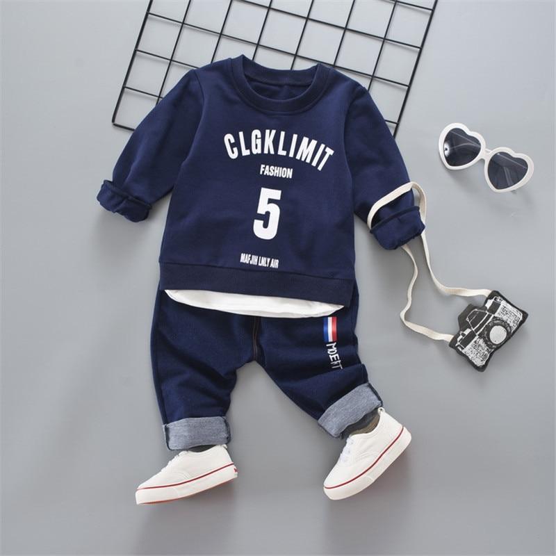 купить 2018 New Brand Fashion Spring Autumn Children's  Baby Boy Clothes High Qulity 2PCS Child Suit 1 -4 Years Kid Sports Set Clothing недорого