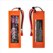 2PCS HRB Orange Hard Case Lipo Battery 7.4V 6000mah 60C-120C For 1/10 Scale Traxxas Car Truck Boat Drone Helicopter