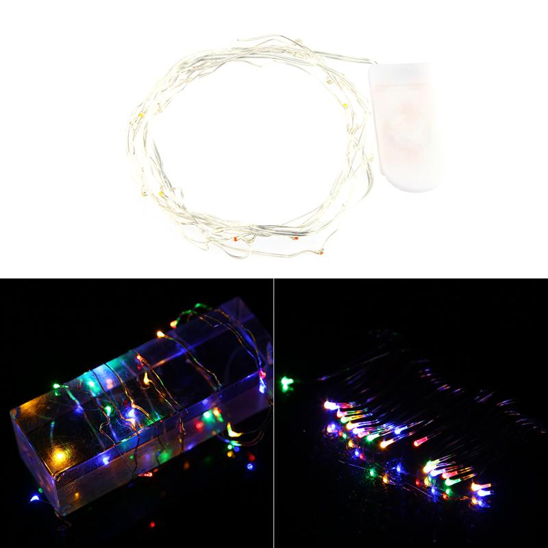 High Quality Beauty 20 LEDs Button Cell Powered Copper Wire Lights For Outdoor Christmas Garden Party Halloween Decoration
