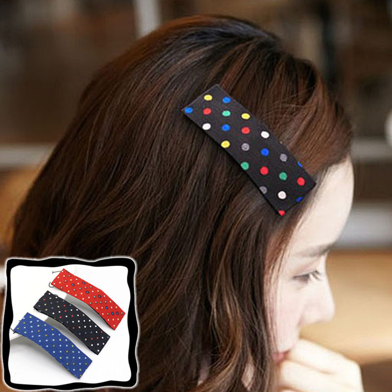 Hot Sale Solid Color Dot BB Clip Gifts Korean Graceful 2018 1PC Hair Clips Barrettes in Women 39 s Hair Accessories from Apparel Accessories