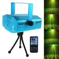 RED Mini R G Auto Voice Xmas DJ Disco LED Laser Stage Light Projector With Remote