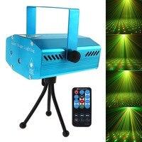 Venda quente vermelho mini r & g auto/voz natal dj disco led laser luz de palco projetor com controle remoto