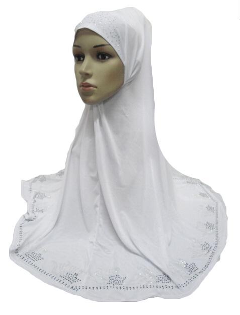 Image 3 - One Piece Hijab Scarf Muslim Amira Prayer Khimar Hat Women  Islamic Headwear Overhead Turban Headscarf Full Cover Worship  ServiceIslamic Clothing