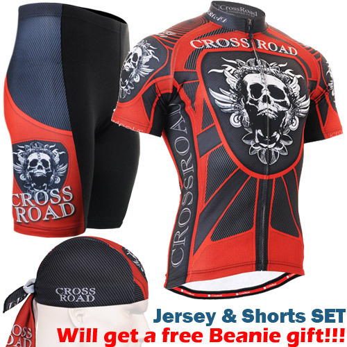 ФОТО Brand Ropa Ciclismo Men Cycling Jersey Short-sleeve T-shirt Breathable Shorts Bike Clothing SkullsOutdoor MTB Cycling Jersey Set