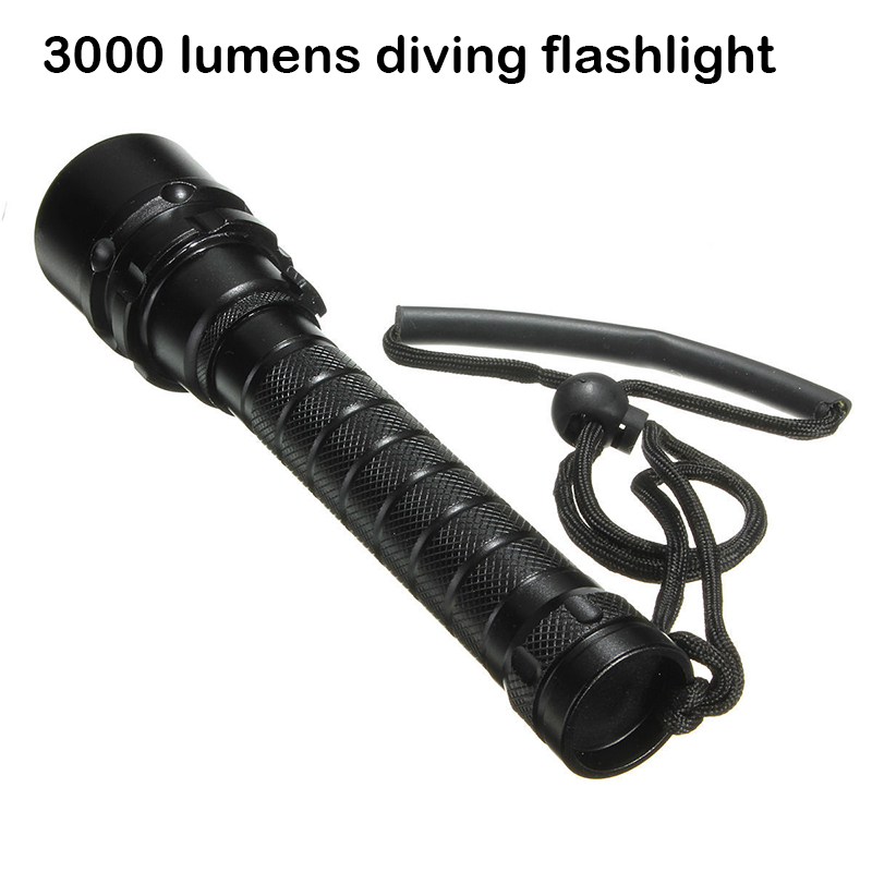 3000 lumens diving flashlight cree xml t6*3 torch high power adjustable led flashlight 2*18650 battery alonefire e007 high power xml t6 zoomable flashlight 18650 rechargeable battery tactical led torch gift set 5pcs