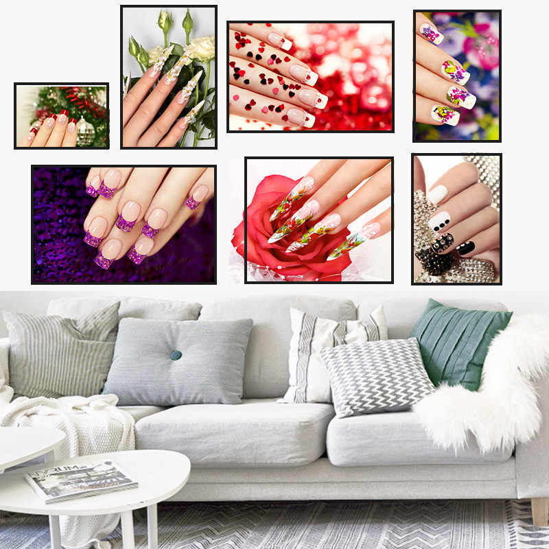 Modern Nail Salon Home Decor Wall Art Nordic Canvas Painting Figure Personalized Print Poster L Bedroom Living Room Picture