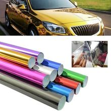 152cm*15cm Fashion Car Vehicle Sticker Color Change Vinyl Wrapping Plating Chrome Film Waterproof  Mirror
