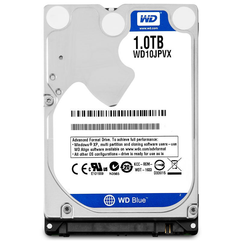WD Blue 1TB 2.5 SATA III Internal Hard Disk Drive 1000Gb HDD HD Harddisk 6Gb/s 8M 9.5mm 5400 RPM WD10JPVX for Notebook Laptop high quality hdd hdd hard drive for xbox 360 slim game console repair parts 250gb harddisk for xbox360 slim for microsolf