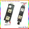 Original Novo Dual/Único Cartão Sim Titular Slot Para asus zenfone 2 ze550ml ze551ml ze500cl cartão de memória suporte flex cabo
