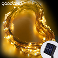 Goodland LED Outdoor Solar String Lights Fairy Holiday Christmas Party Garlands Solar Garden Waterproof Lights