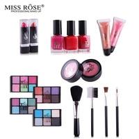 2018 Professionele Makeup Kit set Eyeshadow Blushers Cosmetische Case Volledige Pro Make Palet Lipstick oogschaduw Brushers nagellak