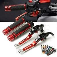 For Honda VFR800 VFR 800 1998 2004 1999 2000 2001 2002 2003 Motorcycle CNC Adjustable Foldable Brake Clutch Lever Handle Grips