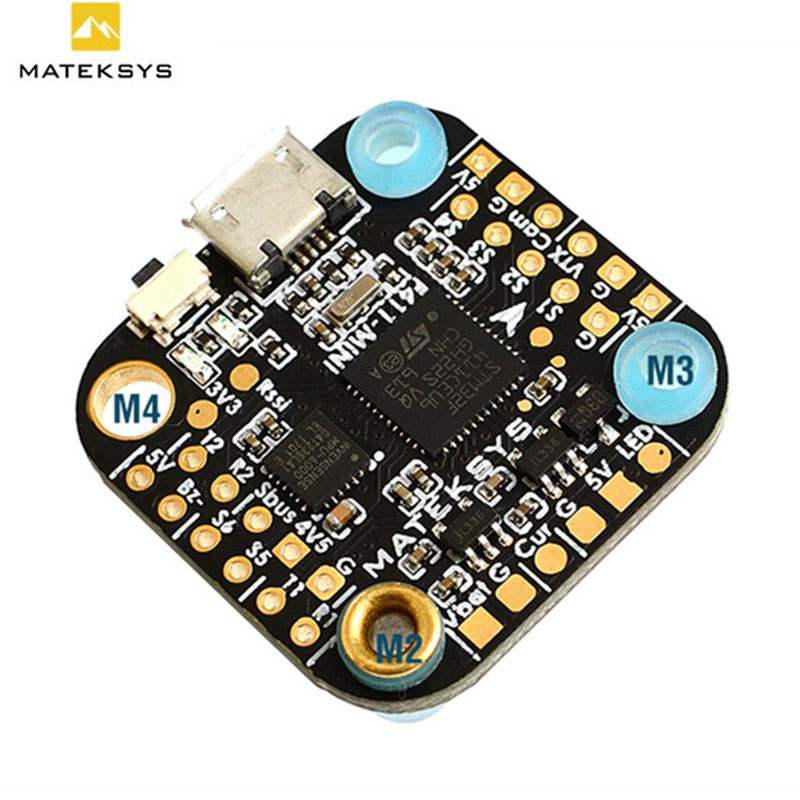 Matek System 20*20mm F411-mini Mini F4 Flight Controller AIO OSD BEC and LED Strip for RC Drone Quadcopter Models Spare Part DIY