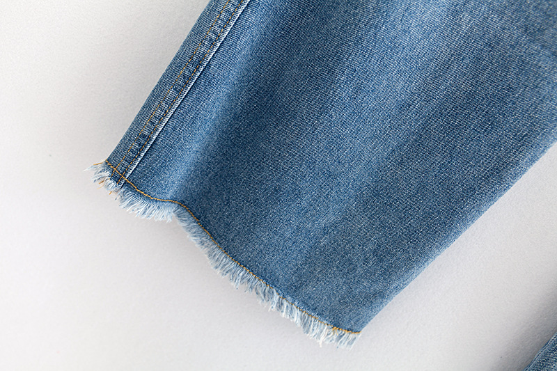 F42 Autumn Winter Plus Size Women Clothing Ankle-length Jeans 4XL Casual Fashion Loose Denim wide leg Pants 8048 17