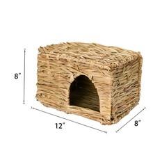 Small pet folding grass house rabbit Chinchilla hamster Hedgehog guinea pig handmade straw grass nest