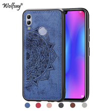 Huawei P Smart 2019 Shockproof Soft TPU Cloth Texture Hard Phone Case For Cover Fundas