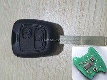 2 Кнопки Дистанционного Ключа Для Peugeot 307 434 мГц С Электронным Чипом id46 (HU83 Лезвия Без Канавки)